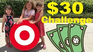 $30 Target TOY Shopping Challenge with Fun Family Three Ava Isla and Olivia