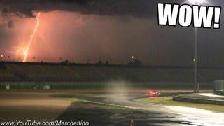 Epic LIGHTNINGS and Loud Racecars!