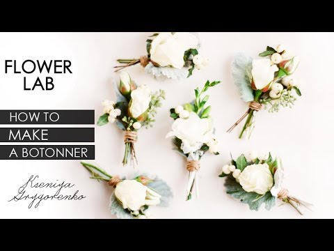 How To Make A Boutonniere! DIY Wedding Flower Boutonniere