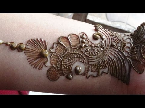 Best Arabic Mehendi 2013:How To Apply Henna Mehndi Tattoo On...