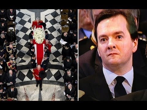 George Osborne moved to tears at Margaret Thatcher's funeral