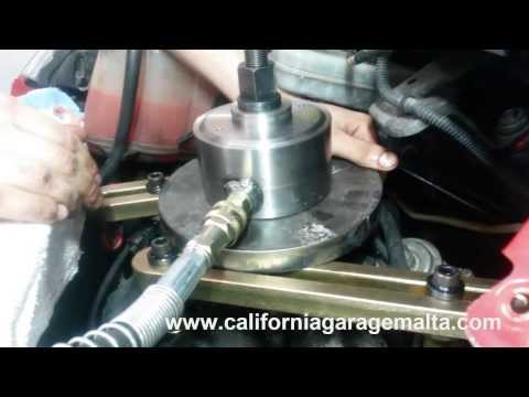 seized diesel injector removal at california garage malta