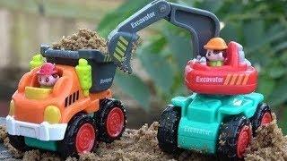 ★Excavator, Cement Mixer, Bulldozer, Road Roller, Dumper   Construction Trucks Songs for Children