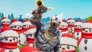 THE PRISONER BUILDS A SNOWMAN ARMY - Fortnite Short Film