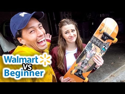 BEGINNER SKATER VS WALMART BOARD!! | *Can Beginners Tell the Difference?!*