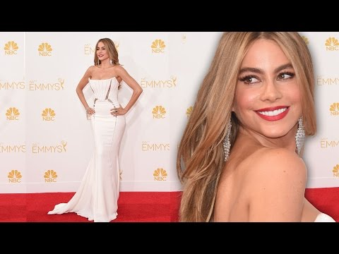 Sofia Vergara On the Red Carpet Primetime Emmys 2014 - White HOT!