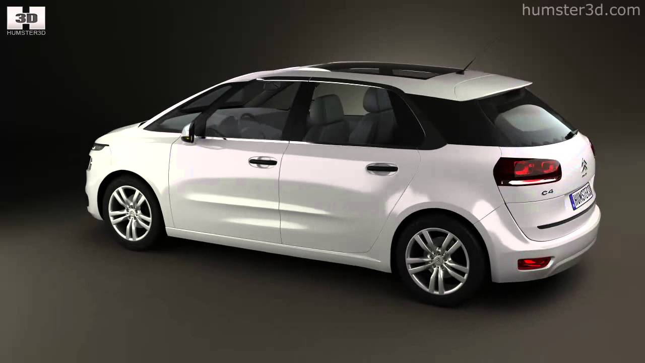 citroen c4 picasso 2014 by 3d model store youtube. Black Bedroom Furniture Sets. Home Design Ideas