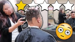 Getting a HAIRCUT At The WORST REVIEWED BARBER In My City (1 STAR)