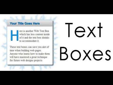 Dreamweaver Tutorial - Web Text Boxes in Dreamweaver 2 of 2 Video