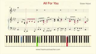 How To Play Piano Sister Hazel 34 All For You 34 Piano Tutorial By Ramin Yousefi