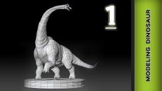 Autodesk Maya 2013 Modeling Tutorial - Dinosaur Modeling