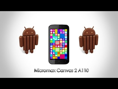 Kitkat Rom 4.4.2 For Micromax Canvas 2 A110 !! video