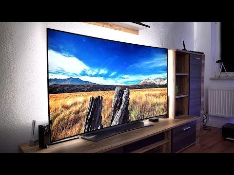 der fernseher der zukunft lgs 65 curved 4k oled tv im. Black Bedroom Furniture Sets. Home Design Ideas