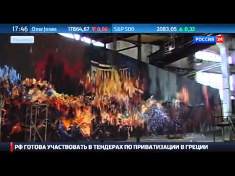 Каратели с нимбами: на стенах церкви во Львове нарисовали бойцов АТО