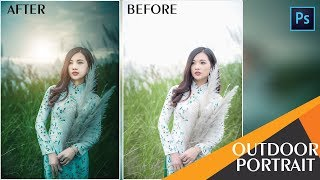 Photoshop Tutorial : Outdoor Portrait Edit - Color Grading Tutorial