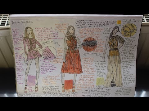 Fashion Product Design In-Depth Presentation Sketch Folder Tour (A LEVEL- A GRADE)