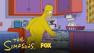 Homer Enjoys The Day In His Birthday Suit | Season 28 Ep. 2 | THE SIMPSONS