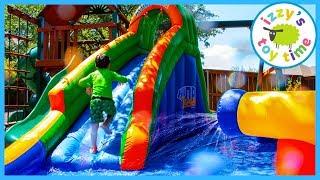 BLAST ZONE HYDRO RUSH! Fun Family Outdoors Pretend Play with WATER!