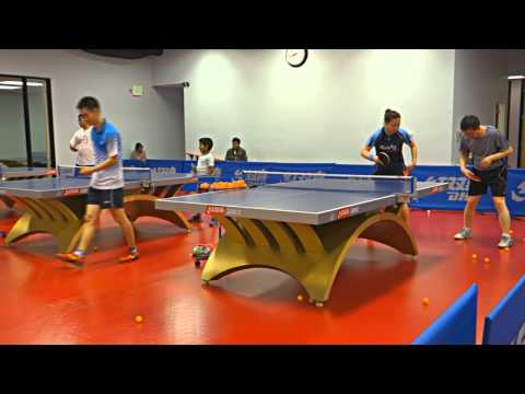 Training with Coach Yi: Backhand looping against long and half-long underspin