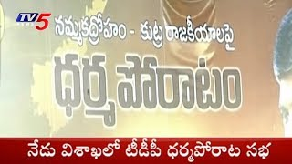 CM Chandrababu Naidu To Hold Dharma Porata Deeksha In Visakhapatnam Today
