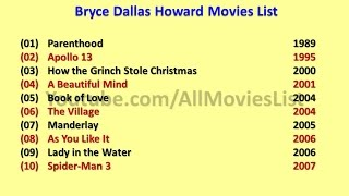 Bryce Dallas Howard Movies List