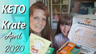 Keto Krate unboxing Review and taste April 2020  | 10k subs wow!