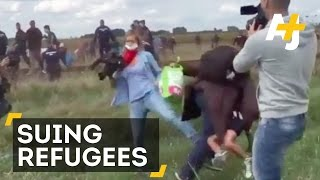 Hungarian Camerawoman Suing One Of The Refugees She Tripped