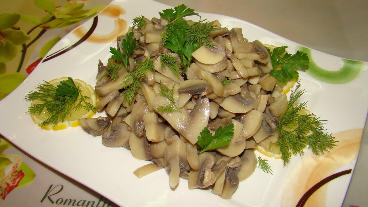 Рецепты из шампиньонов с салатов