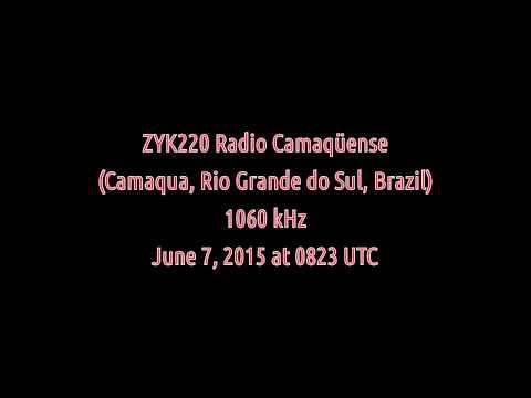 ZYK220 Radio Camaqüense (Camaqua, Rio Grande do Sul, Brazil) - 1060 kHz