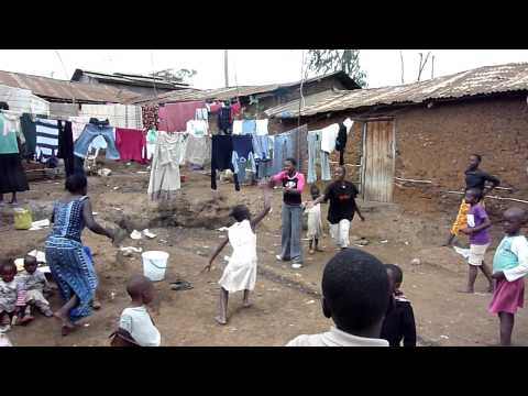 Slum children playing - Community Volunteer Project, Kenya