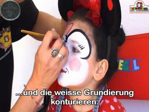 mini maus face painting youtube. Black Bedroom Furniture Sets. Home Design Ideas