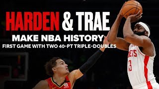 James Harden (41 PTS) & Trae Young (42 PTS)  Both Drop 40-Point Triple-Doubles | Highlights