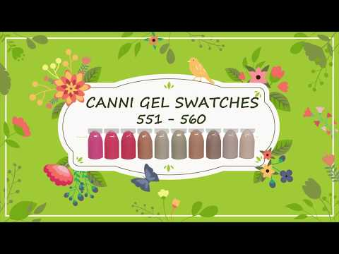 Canni Gel Paint Swatches 551 - 560