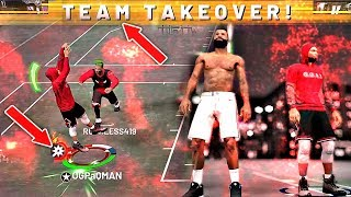 NBA 2K19 SPEEDBOOSTING SHOT CREATOR BUILD FIRST 2s GAME! TEAM TAKEOVER IS UNSTOPPABLE CANT LOSE!