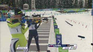 Biathlon Women 10Km Pursuit Complete Event   Vancouver 2010
