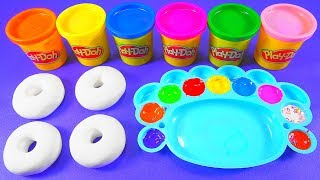 Making Glitter Donuts out of Play Doh | Kinder Surprise Egg | Finger Family Song