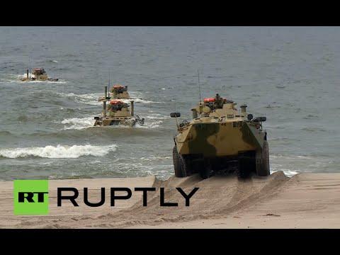 Russia military drills video: Baltic Fleet war games in Kaliningrad