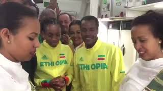 Good bye ceremony arranged by Ethiopian Airlines for Ethiopian Athletes in London