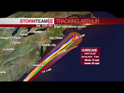 Tracking Hurricane Arthur