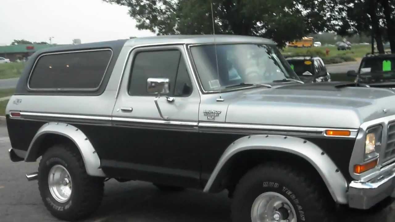 1979 Ford Bronco Xlt 4x4 V8 Nice Truck Youtube