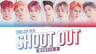 Monsta X Shoot Out English Ver Color Coded Eng 몬스타엑스 슛아웃
