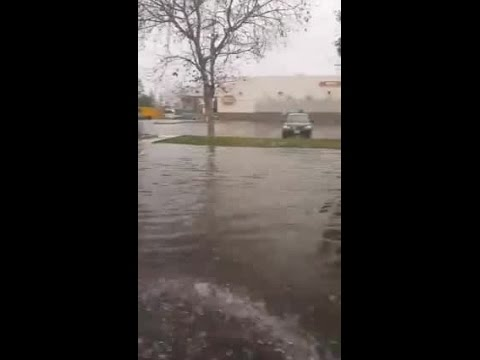 Another video of flooding in Central Bakersfield