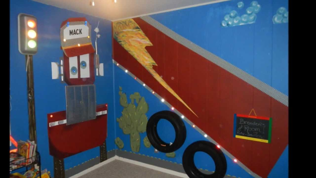 Lightning McQueen Bedroom - YouTube