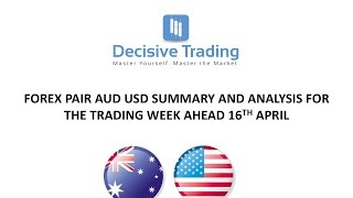 Day Trading Forex Analysis on AUD USD For Trading Week Ahead Sun 16th April