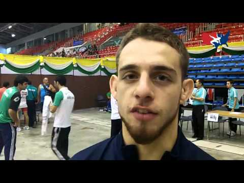 Nick Alvarez after the 2012 Junior Worlds