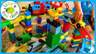 LEGO DUPLO THOMAS TRAIN TRACK?! WOAH! Fun Toy Trains for Kids!