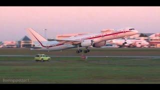 Incredible Sunrise Takeoff! Honeywell Boeing 757-200 at Ottawa!