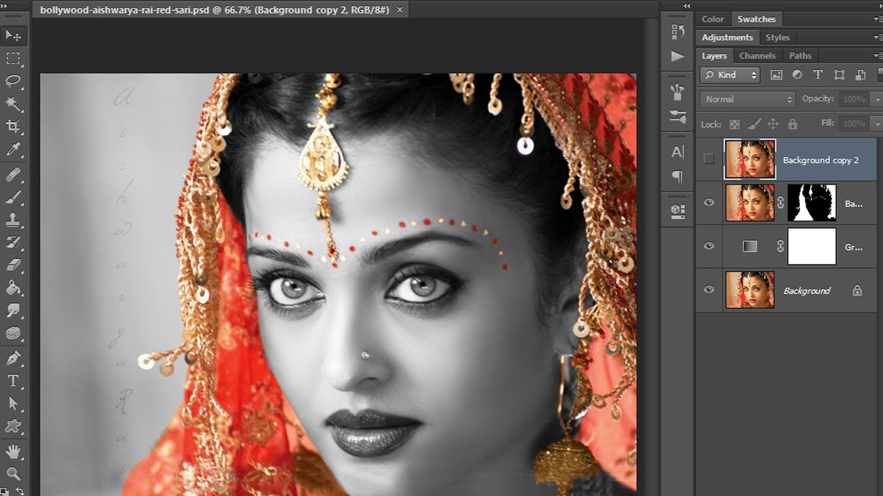 how to cut image in photoshop in hindi