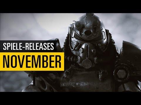 Spiele-Releases  November 2018  Für PC PS4 Xbox One und Nintendo Switch