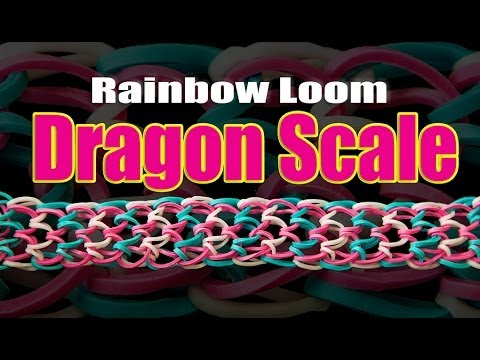 how to make loom bands dragon scale with fingers